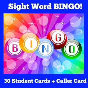 Sight Word Games | Sight Word Bingo | Sight Words First Grade