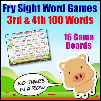 Sight Word Games - Fry List - 3rd & 4th Hundred Words