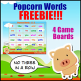 Sight Word Games - Popcorn Words - No Three in a Row