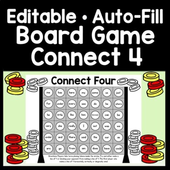 Sight Word Centers Game {Connect 4!} {Sight Word Board Game}