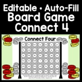 Editable Sight Word Board Game - Connect 4 {Editable with Auto-Fill!}