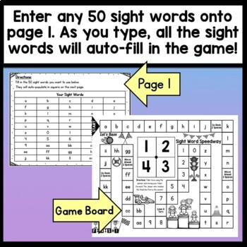 Sight Word Board Game {Race to the the Finish} {A Game for Sight Words}