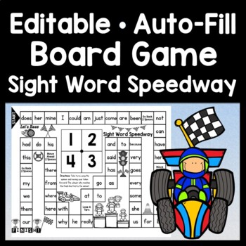 Sight Word Game {Race to the the Finish}