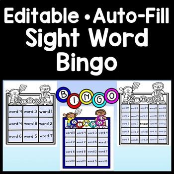 Sight Word Bingo Fry List {Editable!} {35 Sight Word Bingo Cards!}