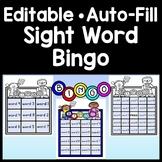 Sight Word Bingo with 35 Cards {Editable!} {Sight Word Bingo Editable}