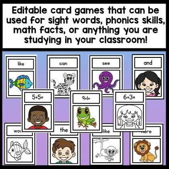 Sight Word Go Fish Kindergarten {2 sets of 48 cards!}