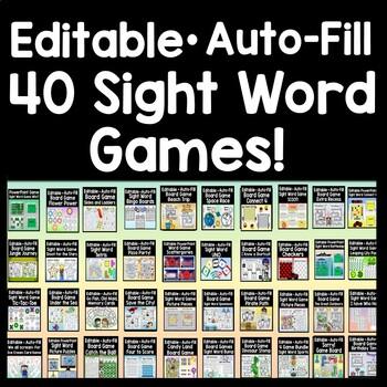 Sight Word Games Bundle {12 Games!}