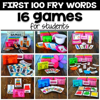 Silly Sight Word Games - First 100 Fry Words