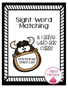 Sight Word Games Pre Primer Dolch