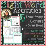 Sight Word and Word Work Games