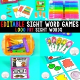 Silly Sight Word Games BUNDLE (Editable)
