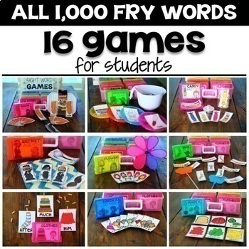 Editable Sight Word Games + 1,000 Fry Words