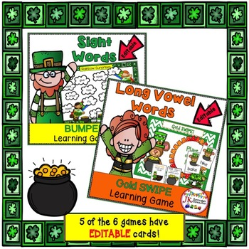 Sight Word Games BUNDLE - St. Patrick's Day Themed