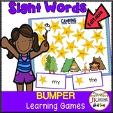 Sight Word Games: Camping Bumper Word Games {CCSS}