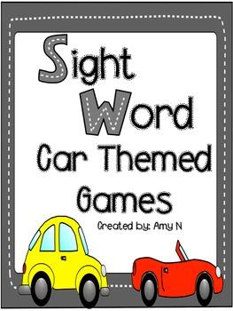 Sight Word Parking Lot Games (Set 1)