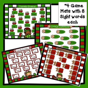 Sight Word Games: Christmas Theme Bumper {EDITABLE}