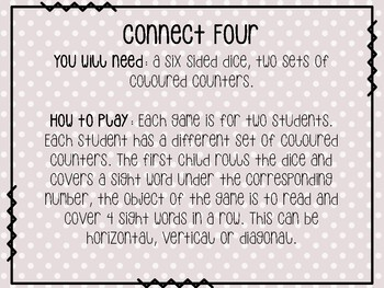Sight Word Games: Connect Four