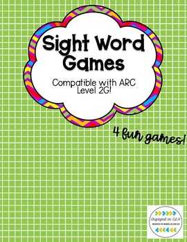 Sight Word Games - Correlated with American Reading Company 2G