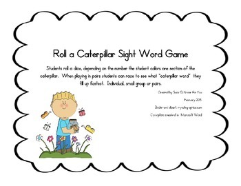 Sight Word Games, Dice, literacy games, centers