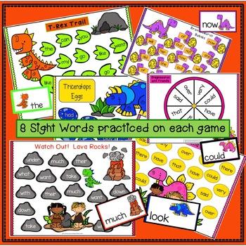 Sight Word Games - Dinosaur BUMPER {EDITABLE}