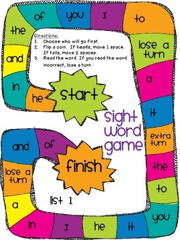 Sight Word Games (Dolch List)