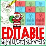 Sight Word Games Editable { Christmas }