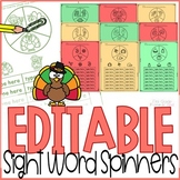 Sight Word Games Editable { Fall Thanksgiving }
