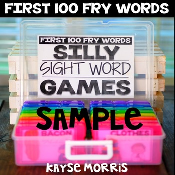 Sight Word Games FREE