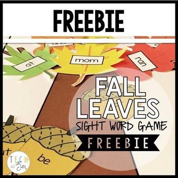 Sight Word Games: Fall Editable FREEBIE