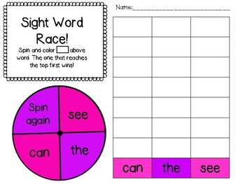 Sight Word Games February