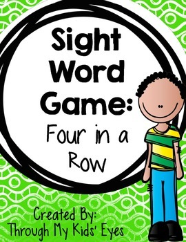 Sight Word Games: Four in a Row