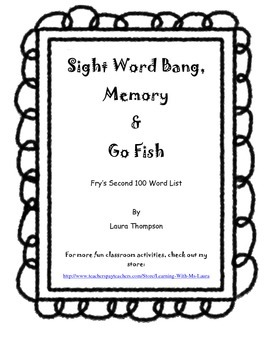 Sight Word Games - Fry Second 100