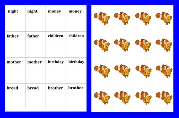 "Sight Word Games ""Go Fish"" & ""Memory"" Sets 11 & 12"