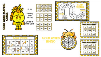 Sight Word Games- Gold