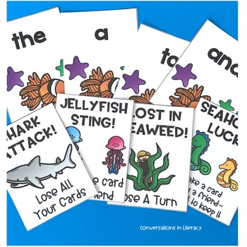 Sight Word Games In The Sea Shark Attack