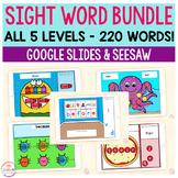 Digital Sight Word Games Mega Bundle | 5 Activities-5 Leve