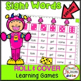 Sight Word Games – Colorful Monsters  Roll & Cover {EDITABLE}