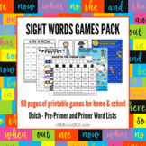 Sight Word Games Pack. Print and Play!
