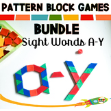 Sight Word Pattern Block Mats A-Y Bundle | Math Games | Wo