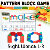 Sight Word Games Pattern Block Mats L-R