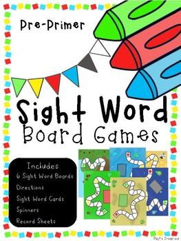 Sight Word Games (Pre-Primer)