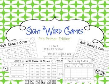 Sight Word Games {Pre Primer Edition}