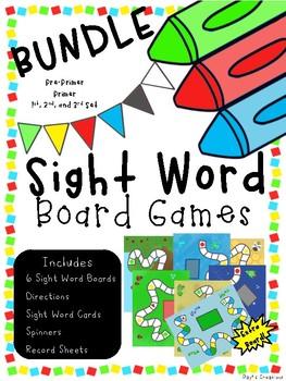 Sight Word Games BUNDLE (Pre-Primer Set to 3rd Set)