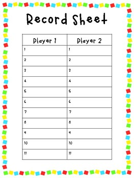 Sight Word Games (Primer)