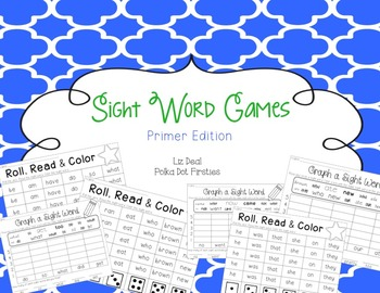Sight Word Games {Primer Edition}