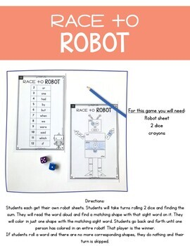 Sight Word Games: Print, Play, LEARN!