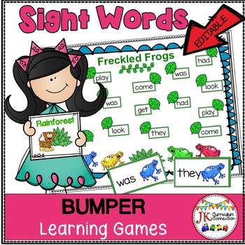 Sight Word Games - Rainforest Bumper