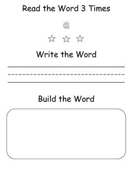 Sight Word Games: Read, Write, Build