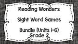 Sight Word Games - Reading Wonders 2nd Grade Units 1-6 Bundle