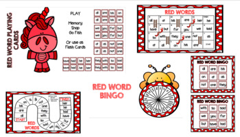 Sight Word Games Red